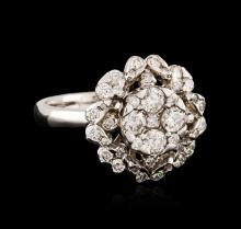 14KT White Gold 1.00ctw Diamond Ring