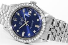Rolex Stainless Steel 2.00ctw Diamond DateJust Men's Watch