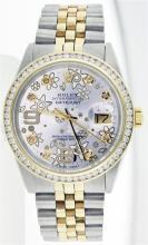 Rolex Two-Tone 1.30ctw Diamond DateJust Men's Watch