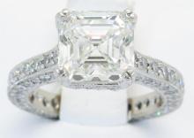GIA Cert 3.24ctw Diamond Ring - Platinum
