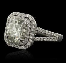 14KT White Gold 3.99ctw Diamond Ring