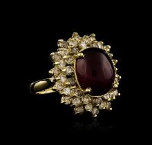 14KT Yellow Gold 9.94ct Ruby and Diamond Ring