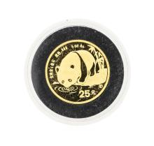 1987 25Y 1/4 oz Gold Panda Coin