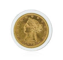 1893 $10 BU Liberty Head Eagle Gold Coin