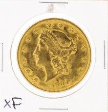 1904 $20 XF Liberty Head Double Eagle Gold Coin