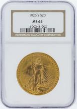 1926-S NGC MS65 $20 St. Gaudens Double Eagle Gold Coin