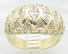 3.36 ctw Diamond Ring - 18KT Yellow Gold