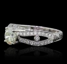 18KT White Gold 1.64 ctw Diamond Ring