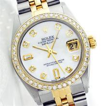 Rolex Two-Tone 1.00ctw Diamond DateJust Men's Watch