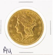 1904-S $20 Au Liberty Head Double Eagle Gold Coin