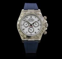 Rolex 18K White Gold Daytona Men's Watch