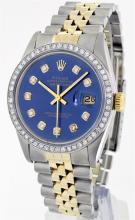 Rolex Two Tone Diamond DateJust Men's Watch