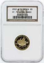 2002-W Ultra Cameo NGC Graded PF70 Olympics $5 Commemorative Gold Coin