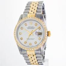Rolex 14KT Two-Tone 1.00ctw Diamond DateJust Men's Watch