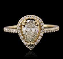14KT Yellow Gold 1.26ctw Diamond Ring