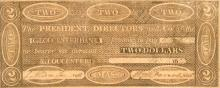 Massachusetts Gloucester Bank $2 Note