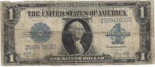 1923 $1 Large Silver Certificate Woods / White Note