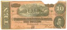 $10 1864 Richmond Virginia Confederate States of America Bank Note