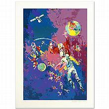 Satellite Football (1982) by Leroy Neiman