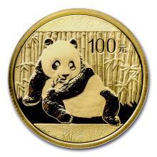 2015 1/4 oz China Panda Gold Coin 100 Yuan BU Sealed