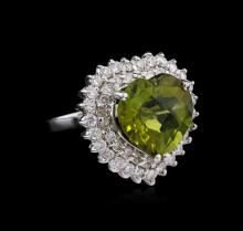 9.94ct Tourmaline and Diamond Ring - 14KT White Gold
