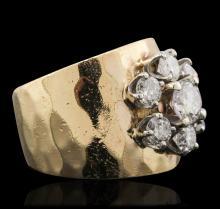 14KT Yellow Gold 1.55ctw Diamond Ring