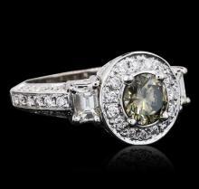 10KT White Gold 2.81ctw Diamond Ring
