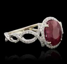 18KT White Gold 2.26ct Ruby and Diamond Ring