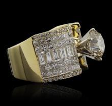 18KT Yellow Gold 5.61ctw Diamond Ring