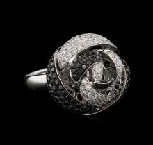 2.34ctw Black Diamond Ring - 14KT White Gold