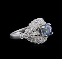 18KT White Gold 1.37ct Tanzanite and Diamond Ring