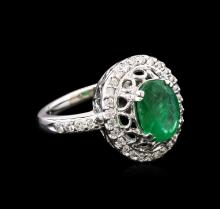 1.90ct Emerald and Diamond Ring - 14KT White Gold
