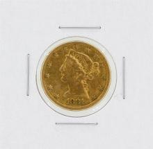 1881 $5 VF Liberty Head Half Eagle Gold Coin