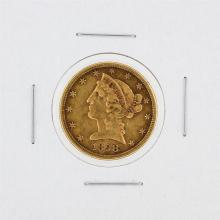 1898-S $5 VF Liberty Head Half Eagle Gold Coin