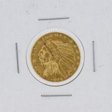 1915-S $5 XF Indian Head Half Eagle Gold Coin
