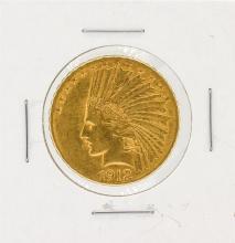 1912-S $10 AU Indian Head Eagle Gold Coin
