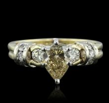 14KT Yellow Gold 1.38ctw Pear Cut Diamond Ring