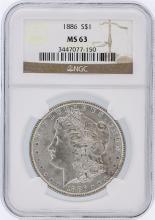1886 NGC MS63 Morgan Silver Dollar