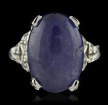 SILVER 7.55ct Tanzanite and White Topaz Ring