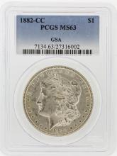 1882-CC PCGS MS63 Morgan Silver Dollar