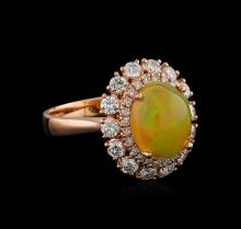 2.27ct Opal and Diamond Ring - 14KT Rose Gold