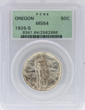 1926-S PCGS MS64 Oregon Commemorative Silver Half Dollar