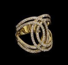 1.27ctw Diamond Ring - 14KT Yellow Gold