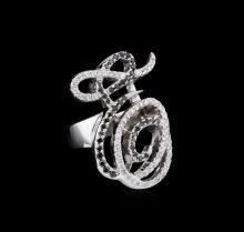 0.35ctw Black Diamond Ring - 14KT White Gold
