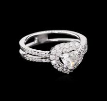 EGL INT Certified 1.01ctw Diamond Ring - 18KT White Gold