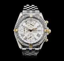 Breitling Stainless Steel Diamond Windrider Crosswind Men's Watch