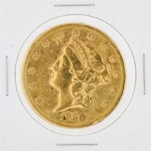 1858-S $20 VF Liberty Head Double Eagle Gold Coin