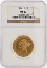 1894 NGC MS62 $10 Liberty Head Eagle Gold Coin