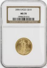 2006 NGC MS70 $10 American Eagle Gold Coin