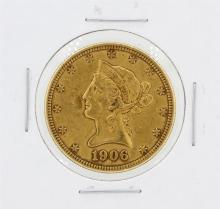 1906-D $10 XF Liberty Head Eagle Gold Coin